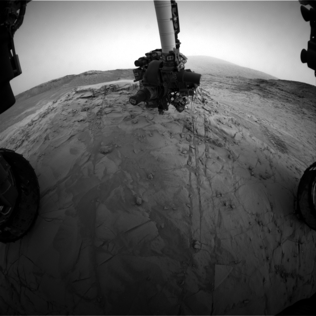 Nasa's Mars rover Curiosity acquired this image using its Front Hazard Avoidance Camera (Front Hazcam) on Sol 813, at drive 1546, site number 44