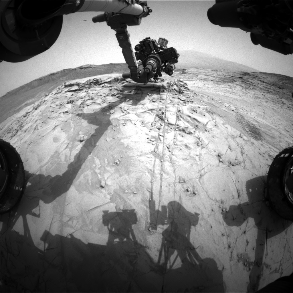 Nasa's Mars rover Curiosity acquired this image using its Front Hazard Avoidance Camera (Front Hazcam) on Sol 814, at drive 1546, site number 44