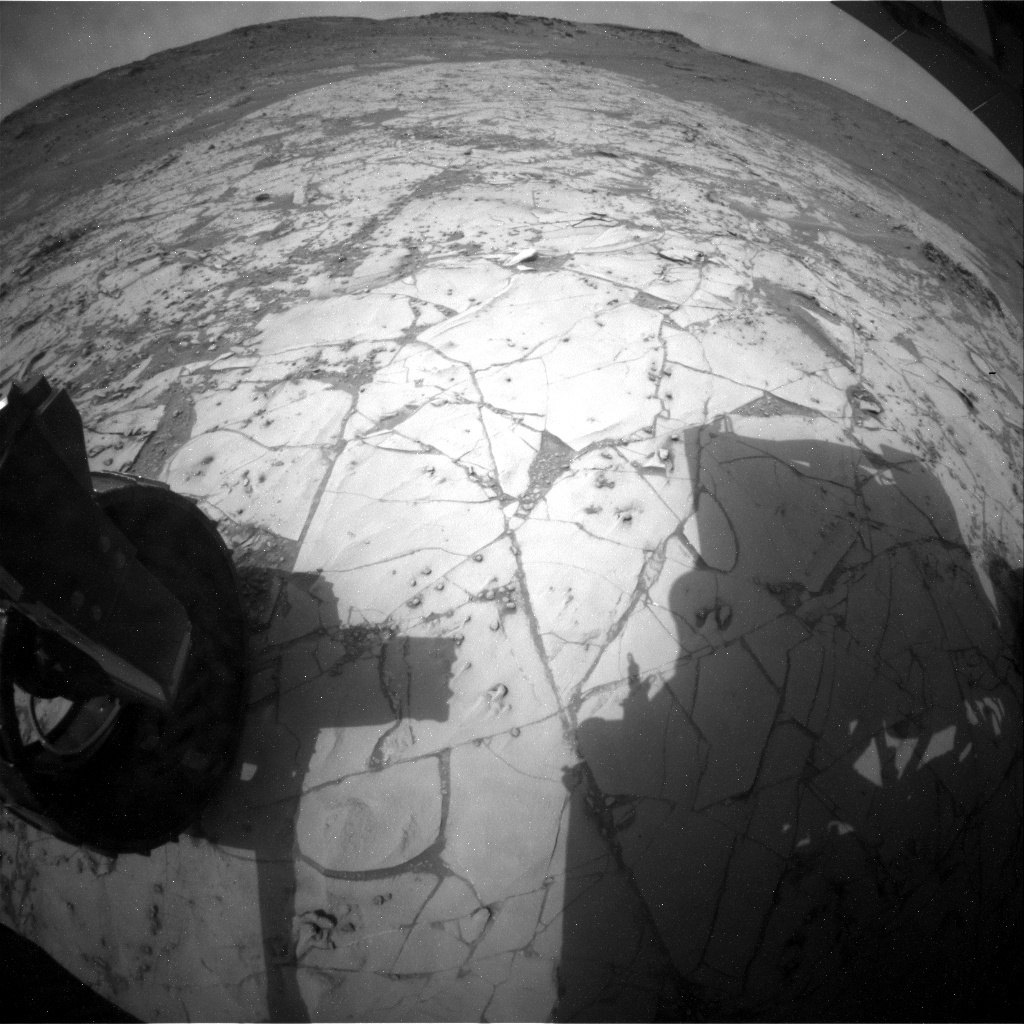 NASA's Mars rover Curiosity acquired this image using its Rear Hazard Avoidance Cameras (Rear Hazcams) on Sol 814
