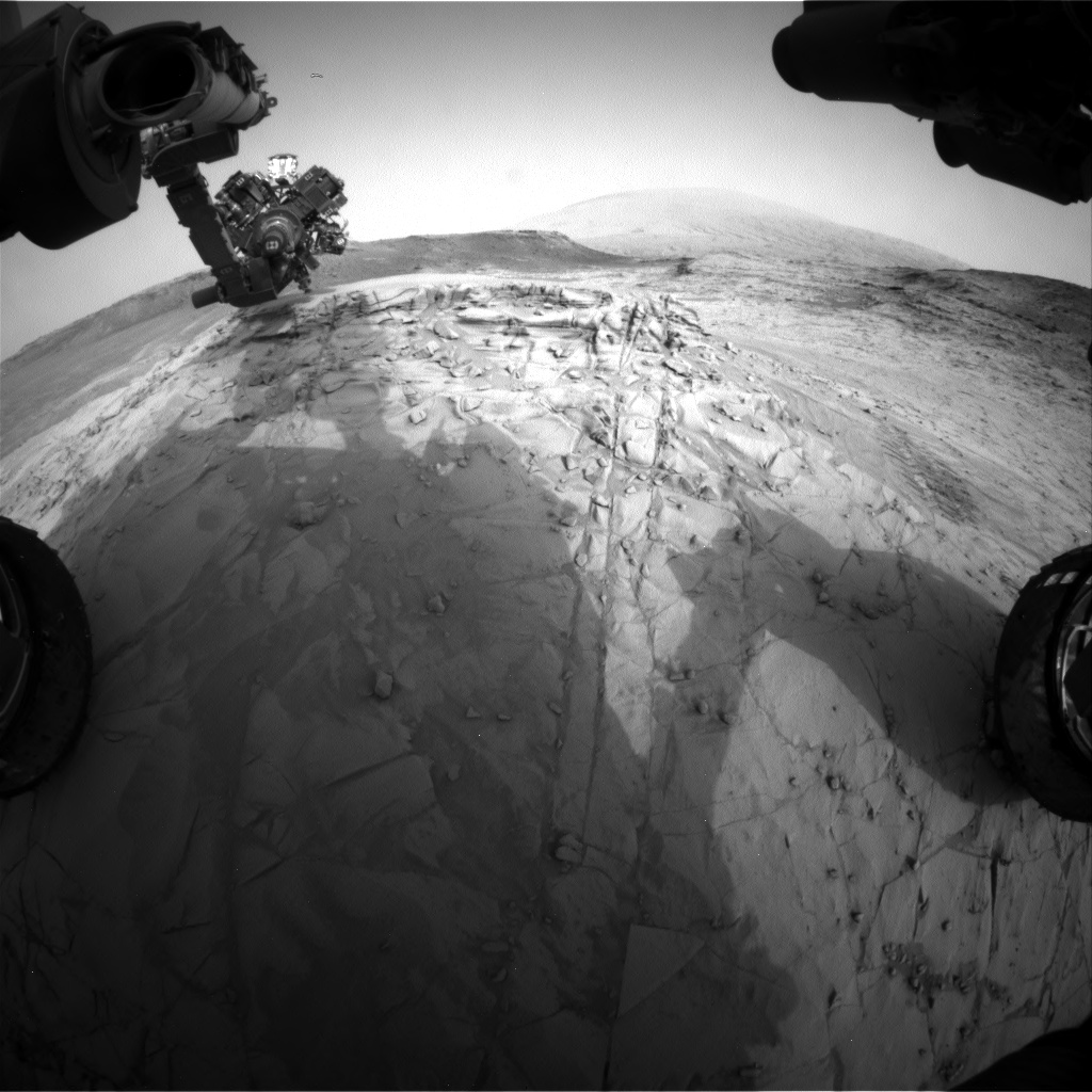 Nasa's Mars rover Curiosity acquired this image using its Front Hazard Avoidance Camera (Front Hazcam) on Sol 815, at drive 1546, site number 44