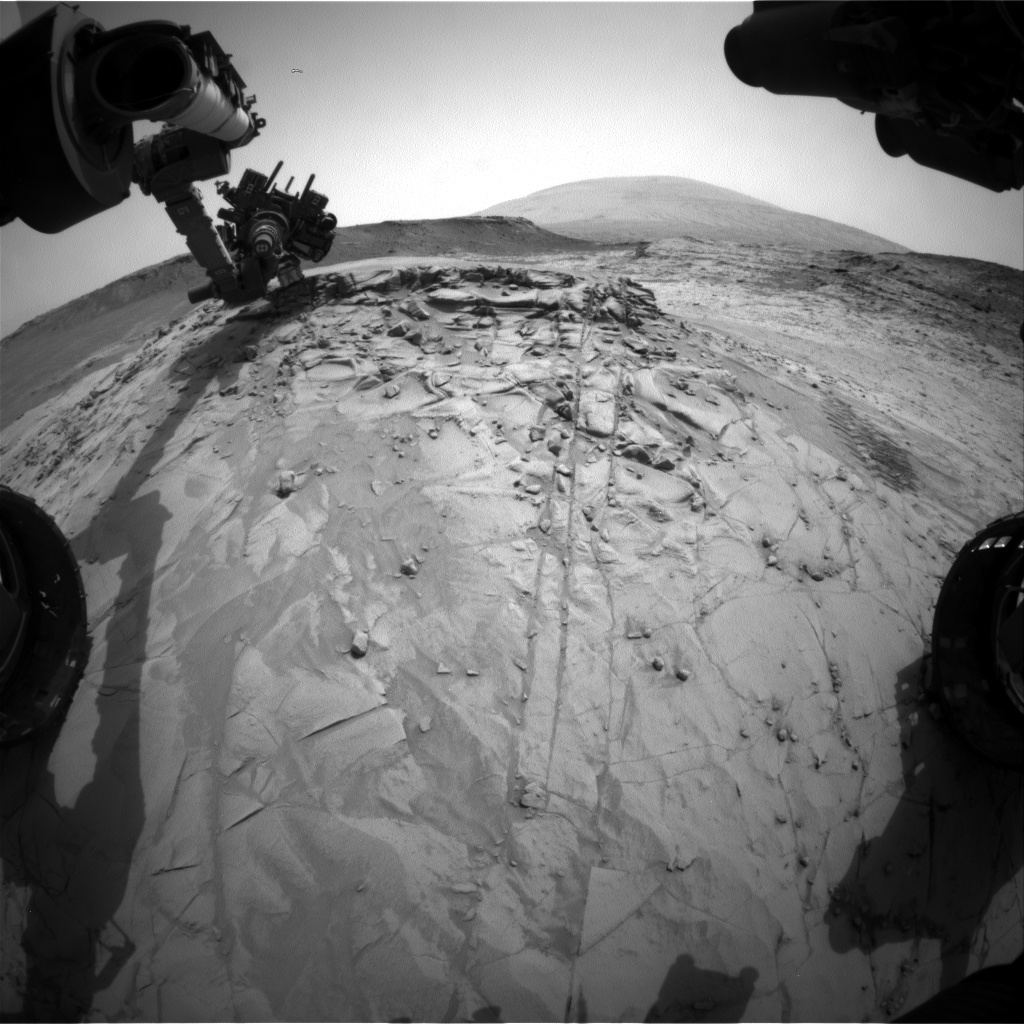 Nasa's Mars rover Curiosity acquired this image using its Front Hazard Avoidance Camera (Front Hazcam) on Sol 816, at drive 1546, site number 44