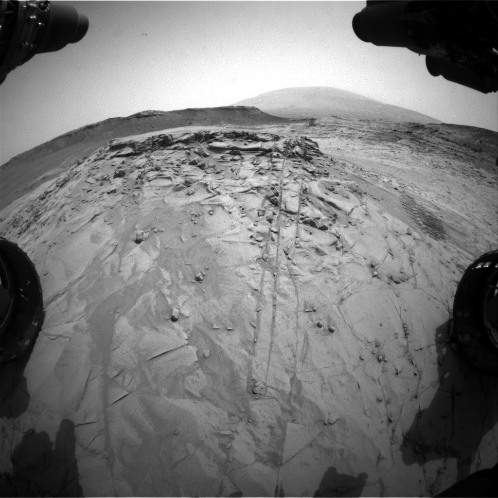 Nasa's Mars rover Curiosity acquired this image using its Front Hazard Avoidance Camera (Front Hazcam) on Sol 817, at drive 1546, site number 44