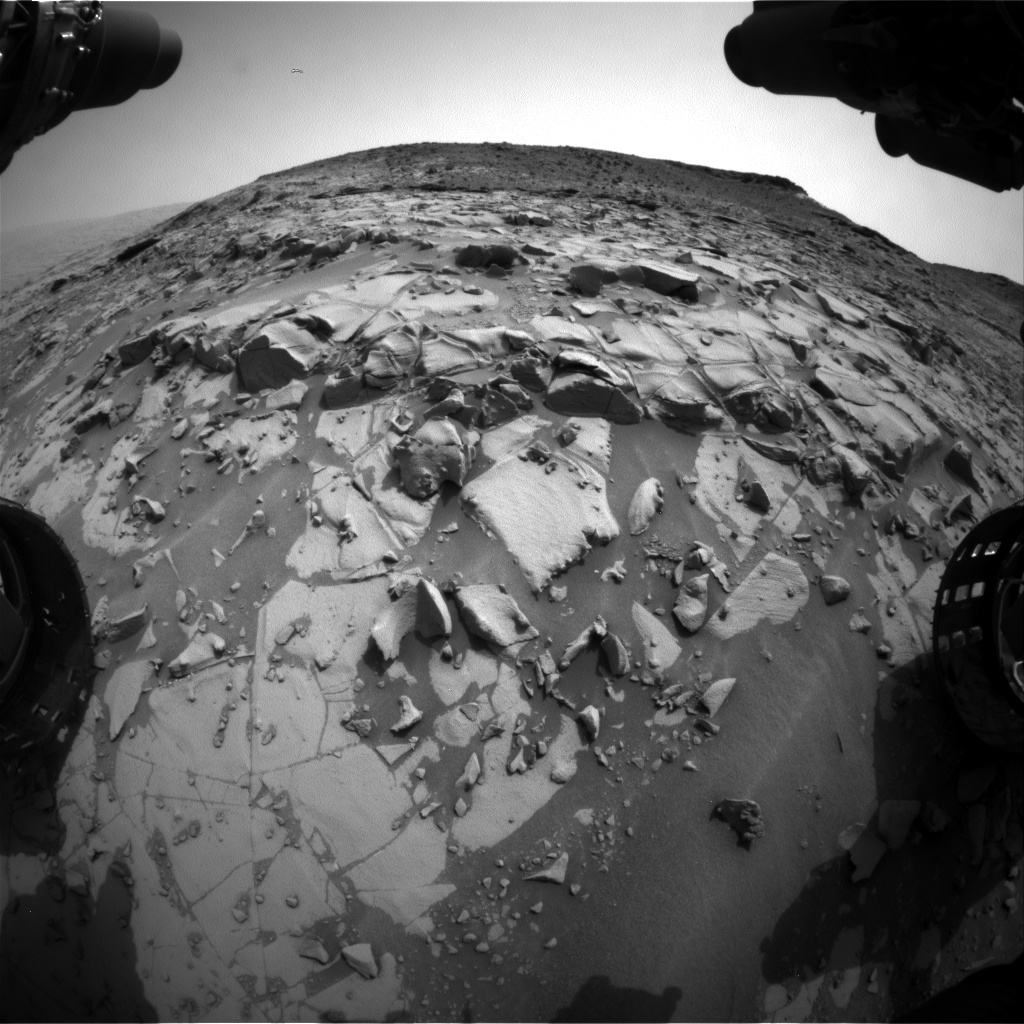 Nasa's Mars rover Curiosity acquired this image using its Front Hazard Avoidance Camera (Front Hazcam) on Sol 817, at drive 1828, site number 44