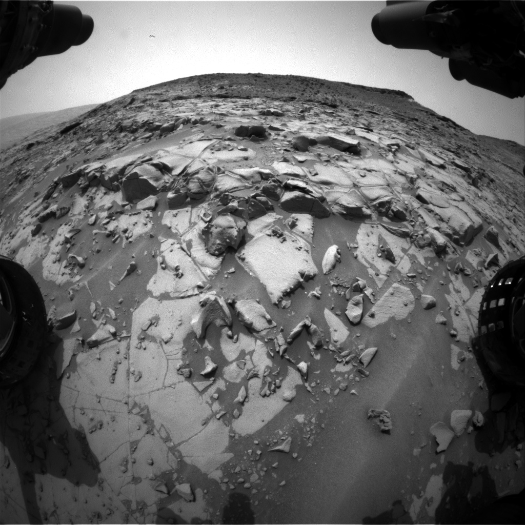Nasa's Mars rover Curiosity acquired this image using its Front Hazard Avoidance Camera (Front Hazcam) on Sol 818, at drive 1828, site number 44