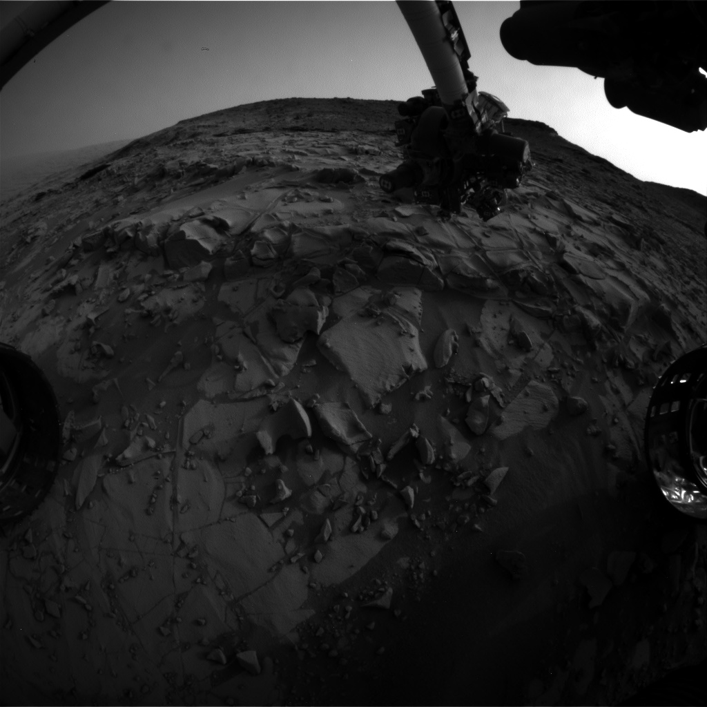 Nasa's Mars rover Curiosity acquired this image using its Front Hazard Avoidance Camera (Front Hazcam) on Sol 819, at drive 1828, site number 44
