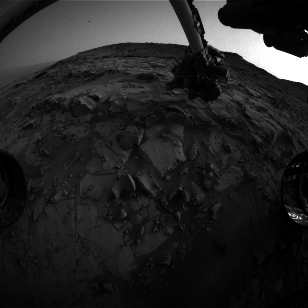 NASA's Mars rover Curiosity acquired this image using its Front Hazard Avoidance Cameras (Front Hazcams) on Sol 819