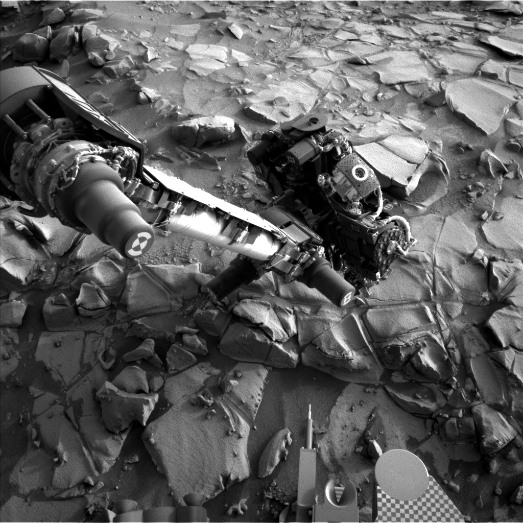NASA's Mars rover Curiosity acquired this image using its Left Navigation Camera (Navcams) on Sol 819