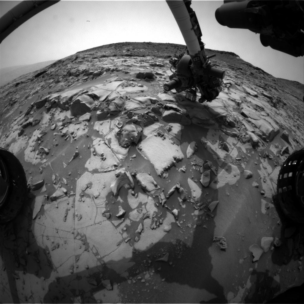 Nasa's Mars rover Curiosity acquired this image using its Front Hazard Avoidance Camera (Front Hazcam) on Sol 820, at drive 1828, site number 44