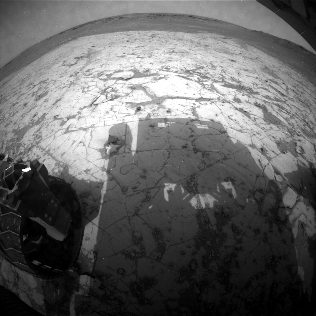 NASA's Mars rover Curiosity acquired this image using its Rear Hazard Avoidance Cameras (Rear Hazcams) on Sol 820