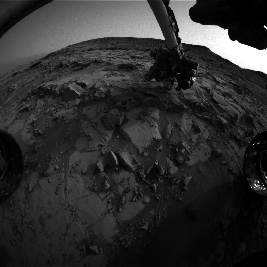 Nasa's Mars rover Curiosity acquired this image using its Front Hazard Avoidance Camera (Front Hazcam) on Sol 821, at drive 1828, site number 44