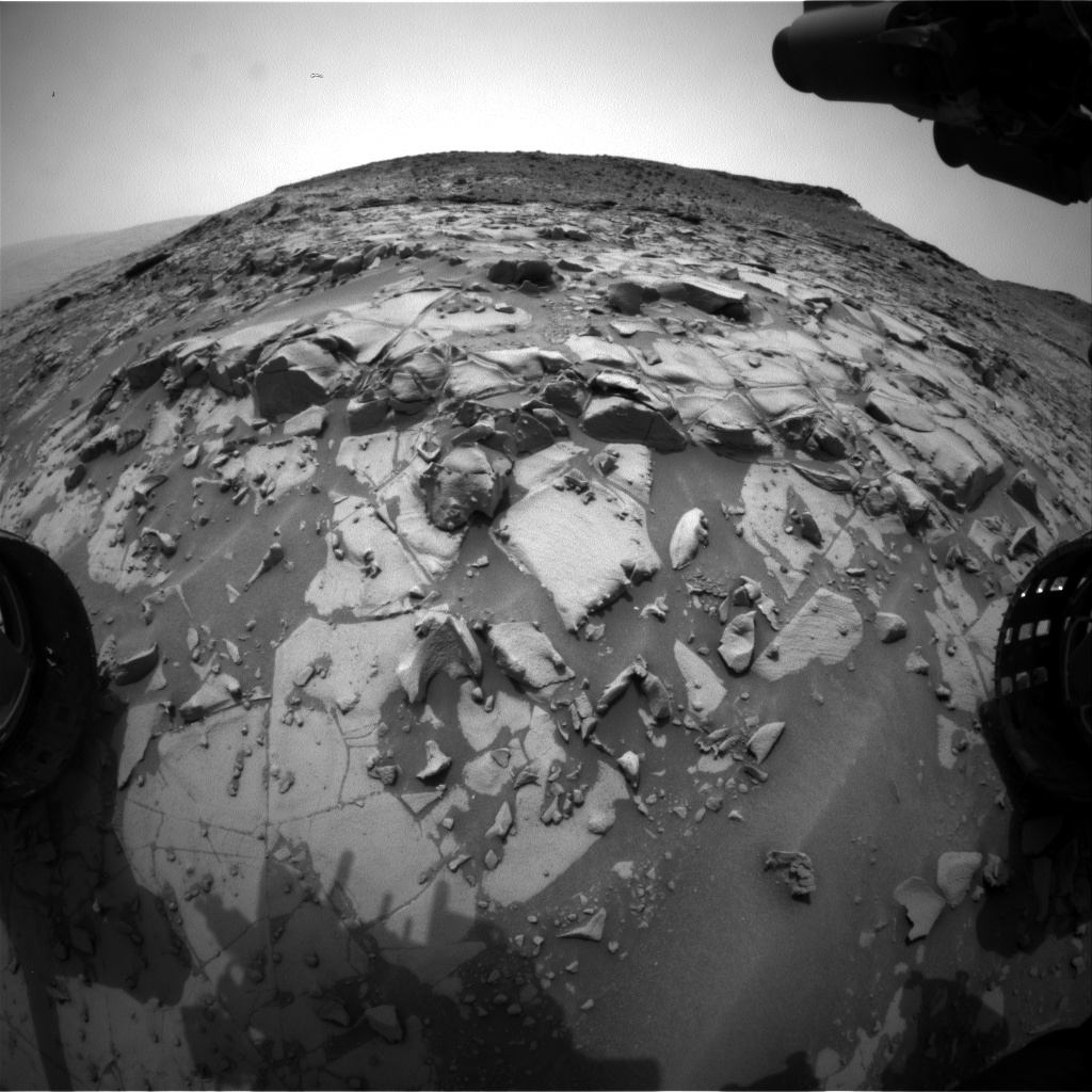Nasa's Mars rover Curiosity acquired this image using its Front Hazard Avoidance Camera (Front Hazcam) on Sol 822, at drive 1828, site number 44