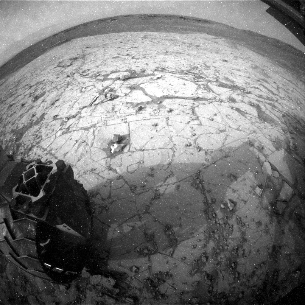 NASA's Mars rover Curiosity acquired this image using its Rear Hazard Avoidance Cameras (Rear Hazcams) on Sol 824