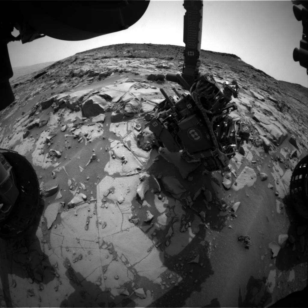 Nasa's Mars rover Curiosity acquired this image using its Front Hazard Avoidance Camera (Front Hazcam) on Sol 825, at drive 1828, site number 44