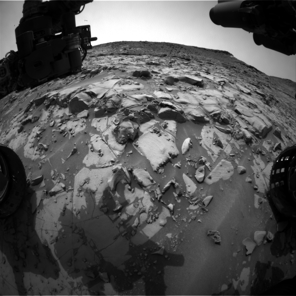 Nasa's Mars rover Curiosity acquired this image using its Front Hazard Avoidance Camera (Front Hazcam) on Sol 826, at drive 1828, site number 44