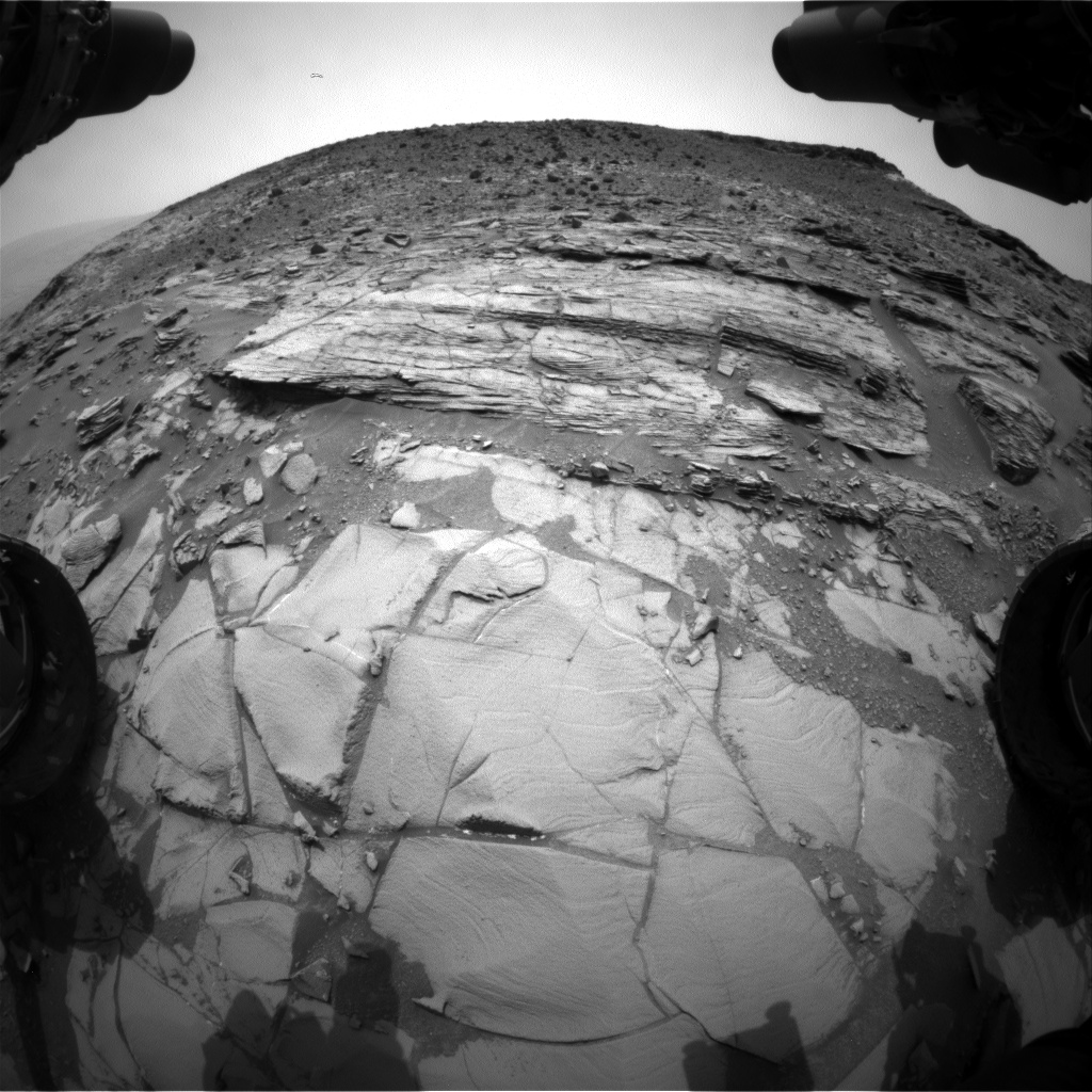 Nasa's Mars rover Curiosity acquired this image using its Front Hazard Avoidance Camera (Front Hazcam) on Sol 827, at drive 2062, site number 44