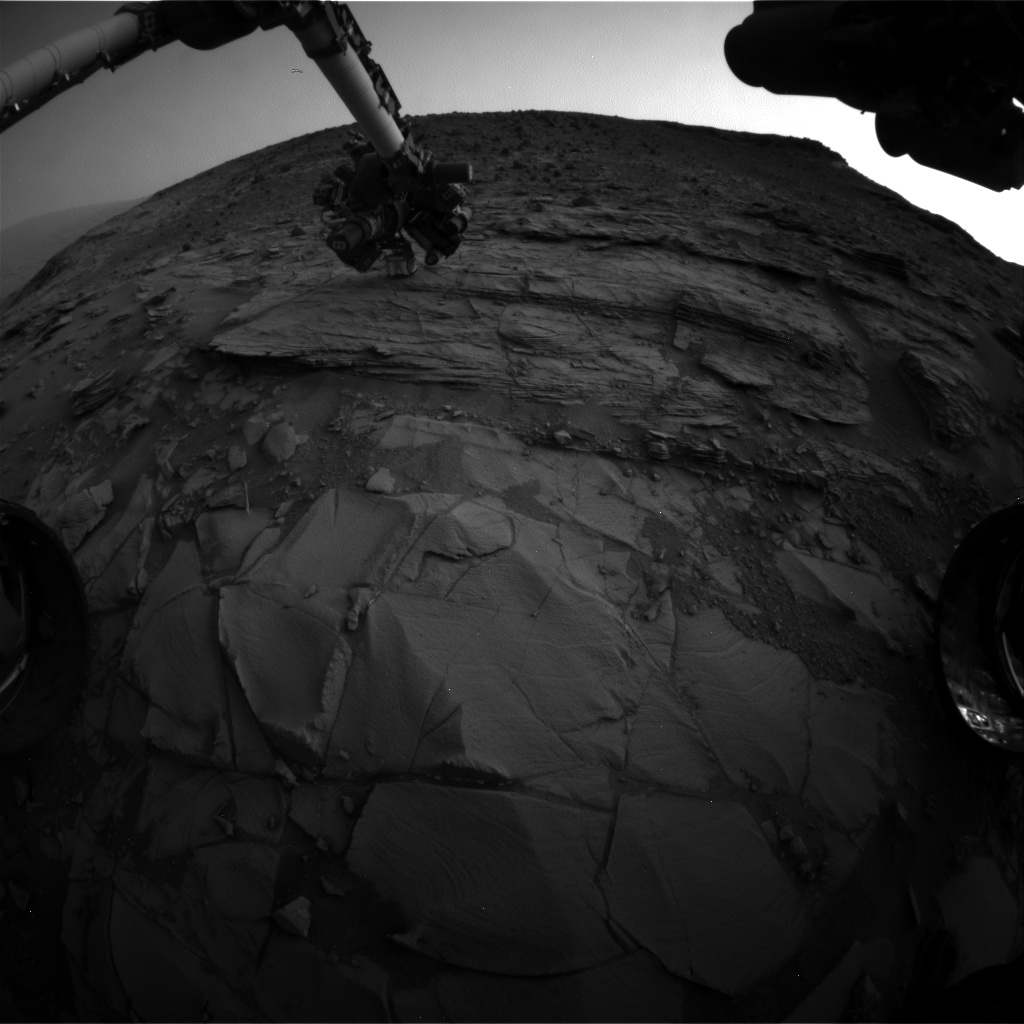 Nasa's Mars rover Curiosity acquired this image using its Front Hazard Avoidance Camera (Front Hazcam) on Sol 828, at drive 2062, site number 44