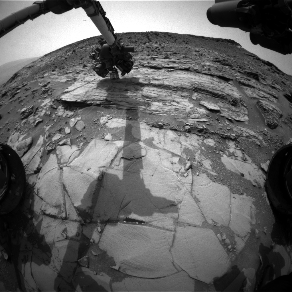 Nasa's Mars rover Curiosity acquired this image using its Front Hazard Avoidance Camera (Front Hazcam) on Sol 829, at drive 2062, site number 44