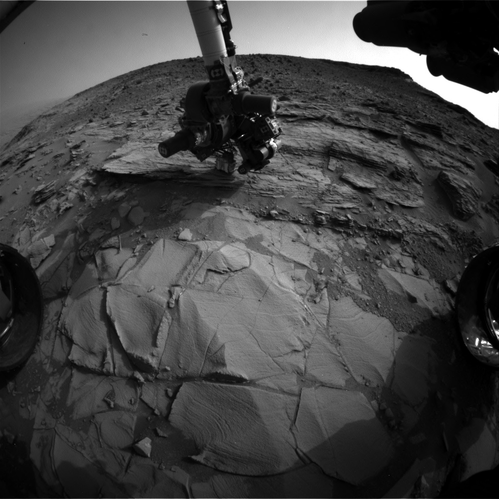 Nasa's Mars rover Curiosity acquired this image using its Front Hazard Avoidance Camera (Front Hazcam) on Sol 831, at drive 2062, site number 44