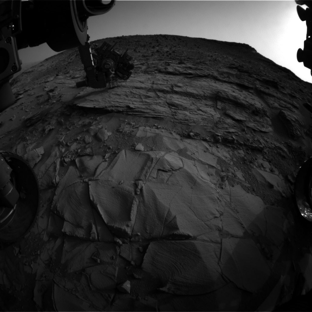 NASA's Mars rover Curiosity acquired this image using its Front Hazard Avoidance Cameras (Front Hazcams) on Sol 833