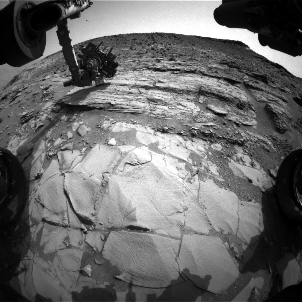 Nasa's Mars rover Curiosity acquired this image using its Front Hazard Avoidance Camera (Front Hazcam) on Sol 834, at drive 2062, site number 44
