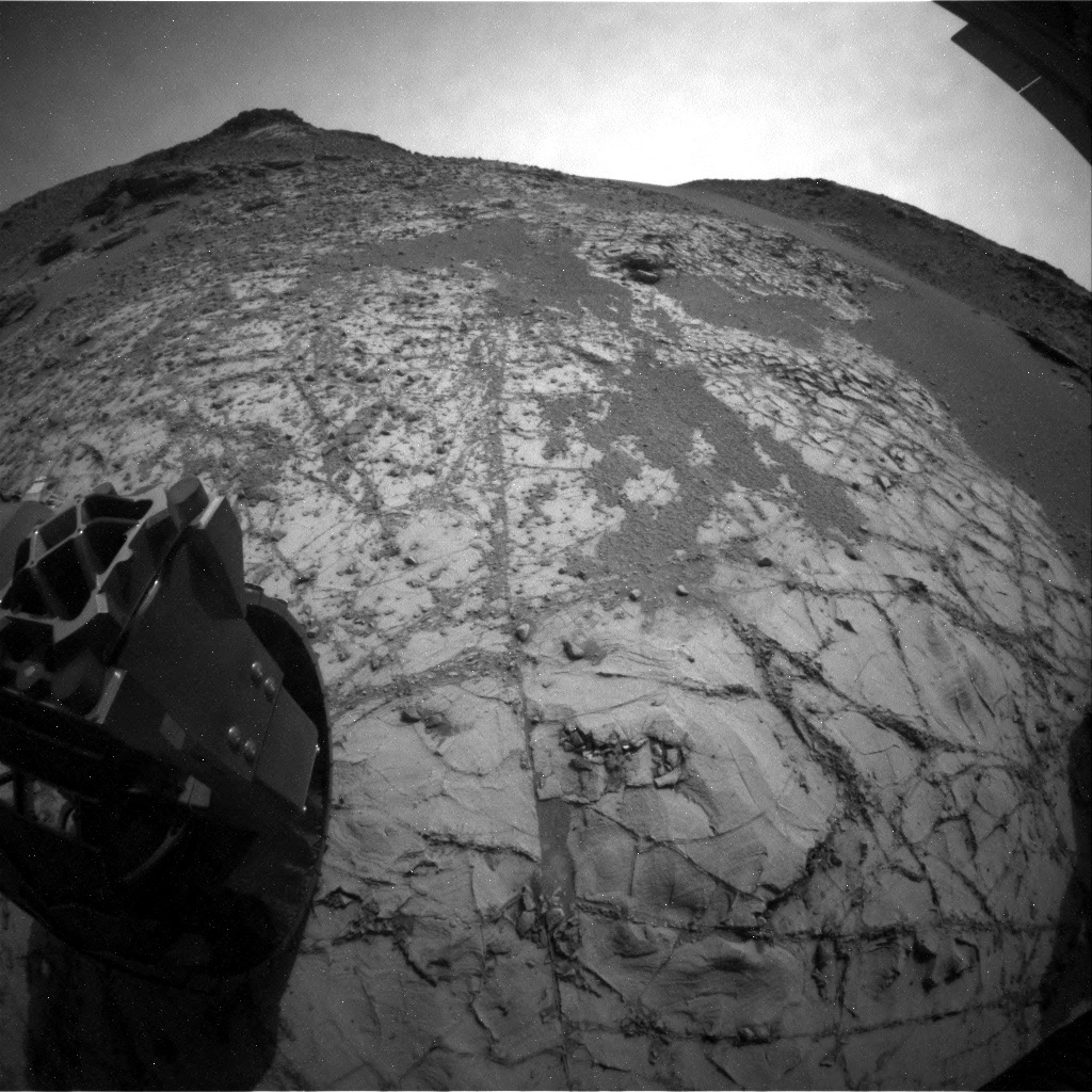 NASA's Mars rover Curiosity acquired this image using its Rear Hazard Avoidance Cameras (Rear Hazcams) on Sol 835