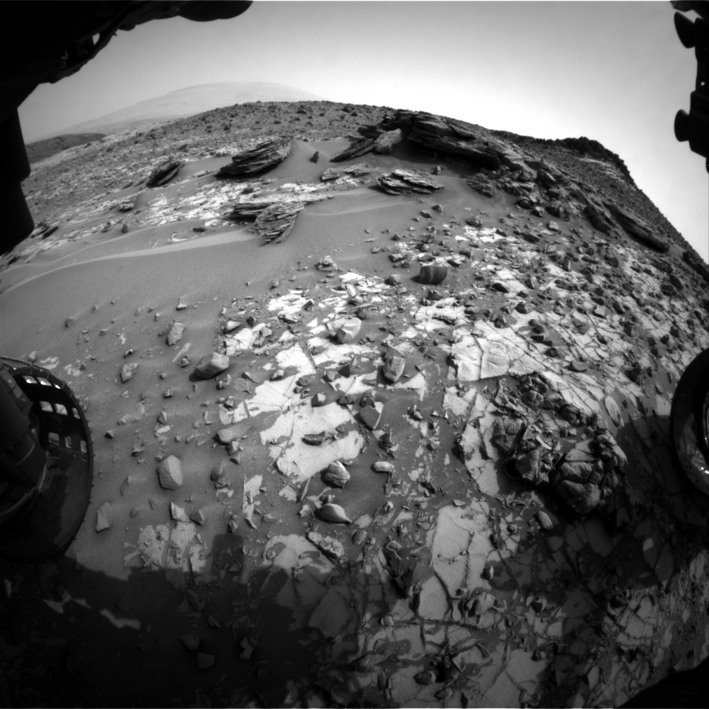 Nasa's Mars rover Curiosity acquired this image using its Front Hazard Avoidance Camera (Front Hazcam) on Sol 837, at drive 2396, site number 44