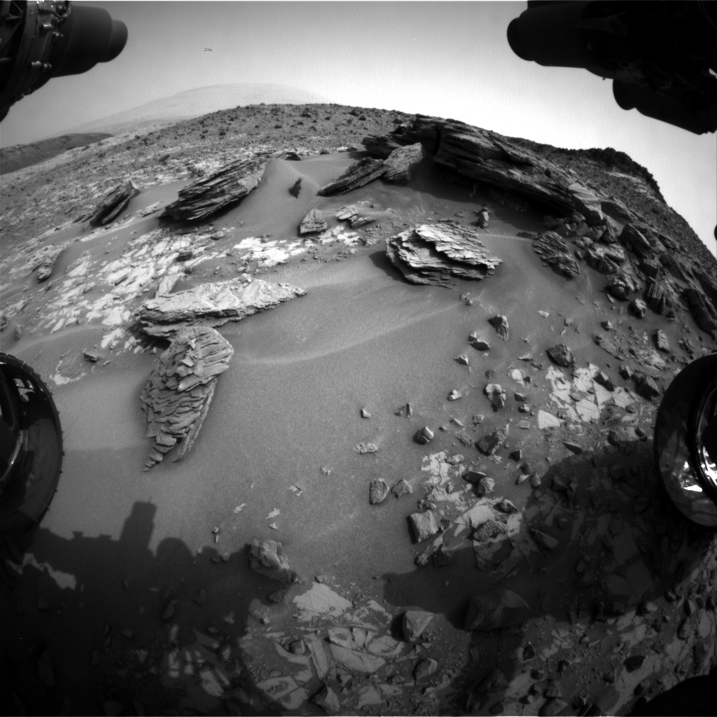 Nasa's Mars rover Curiosity acquired this image using its Front Hazard Avoidance Camera (Front Hazcam) on Sol 837, at drive 2414, site number 44