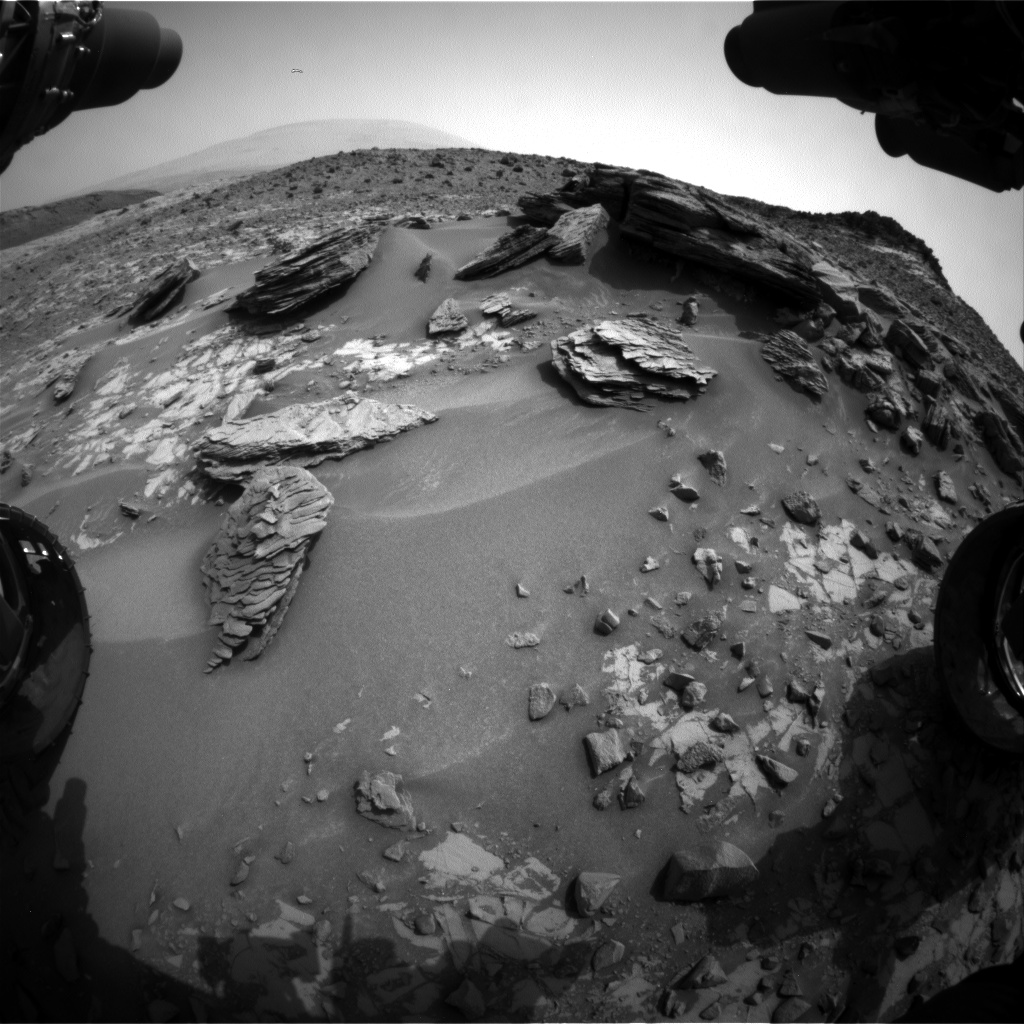 Nasa's Mars rover Curiosity acquired this image using its Front Hazard Avoidance Camera (Front Hazcam) on Sol 838, at drive 2414, site number 44