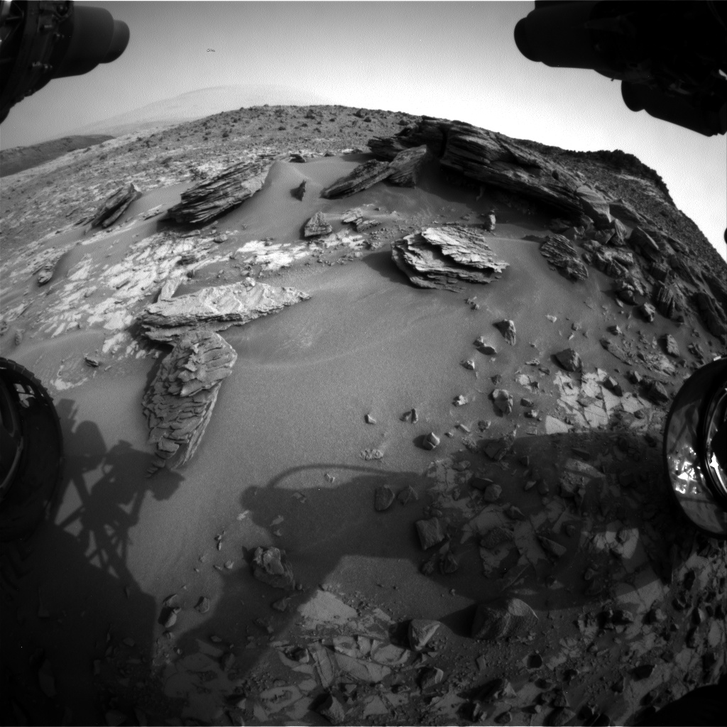 Nasa's Mars rover Curiosity acquired this image using its Front Hazard Avoidance Camera (Front Hazcam) on Sol 839, at drive 2414, site number 44