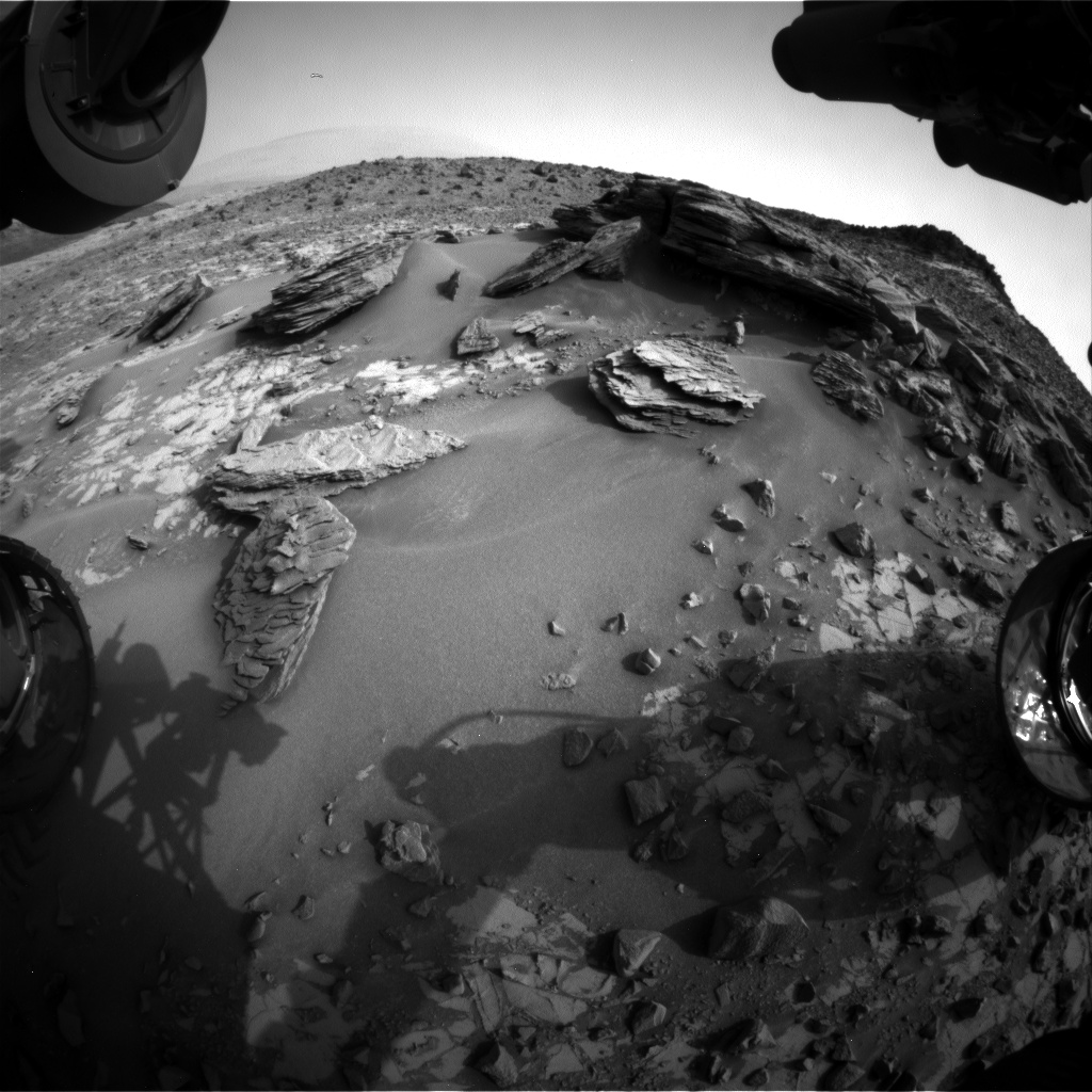 Nasa's Mars rover Curiosity acquired this image using its Front Hazard Avoidance Camera (Front Hazcam) on Sol 840, at drive 2414, site number 44