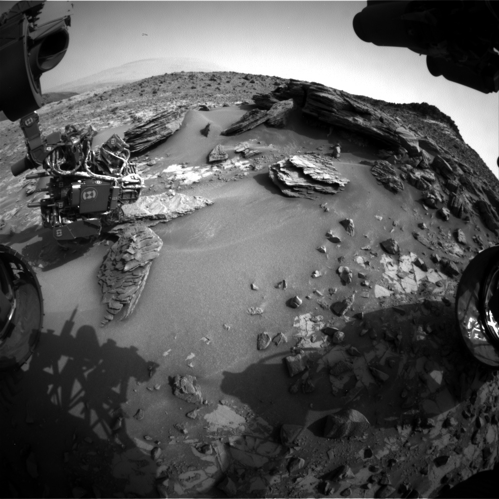 Nasa's Mars rover Curiosity acquired this image using its Front Hazard Avoidance Camera (Front Hazcam) on Sol 842, at drive 2414, site number 44