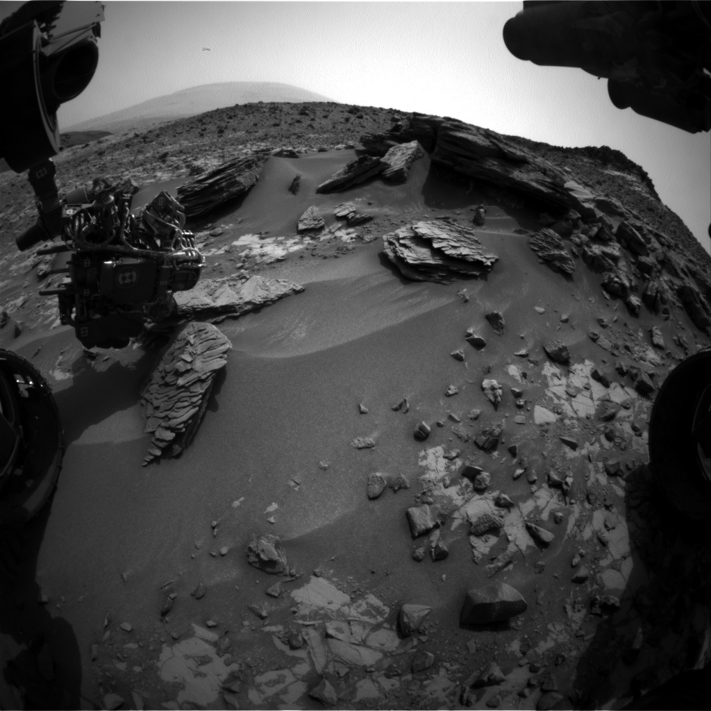 Nasa's Mars rover Curiosity acquired this image using its Front Hazard Avoidance Camera (Front Hazcam) on Sol 843, at drive 2414, site number 44