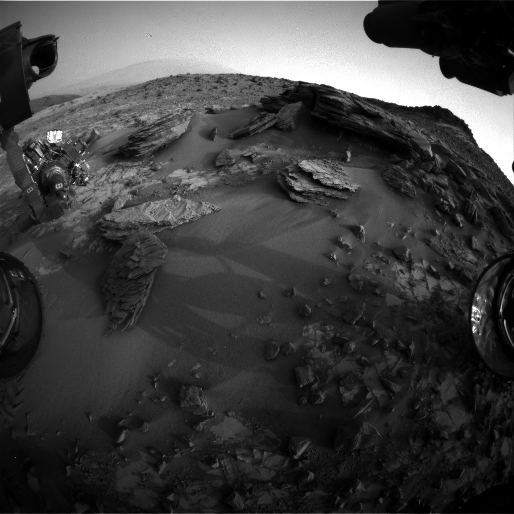 Nasa's Mars rover Curiosity acquired this image using its Front Hazard Avoidance Camera (Front Hazcam) on Sol 844, at drive 2414, site number 44