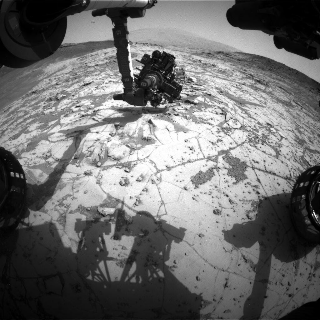 Nasa's Mars rover Curiosity acquired this image using its Front Hazard Avoidance Camera (Front Hazcam) on Sol 867, at drive 0, site number 45