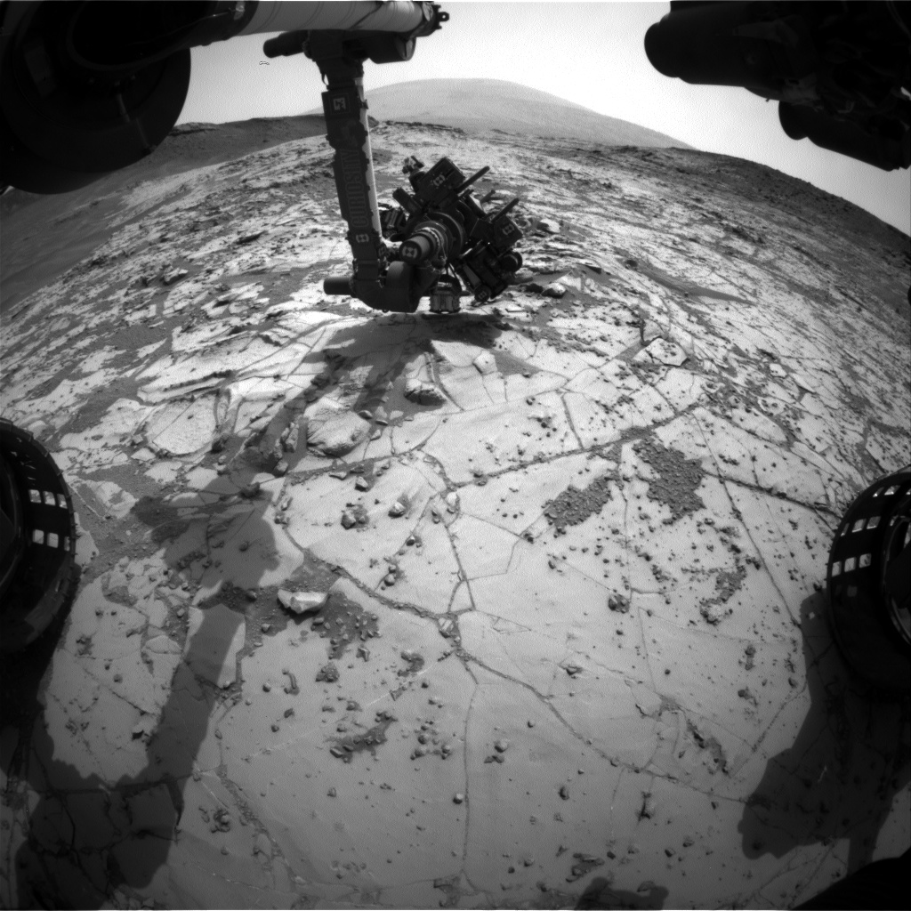 Nasa's Mars rover Curiosity acquired this image using its Front Hazard Avoidance Camera (Front Hazcam) on Sol 868, at drive 0, site number 45