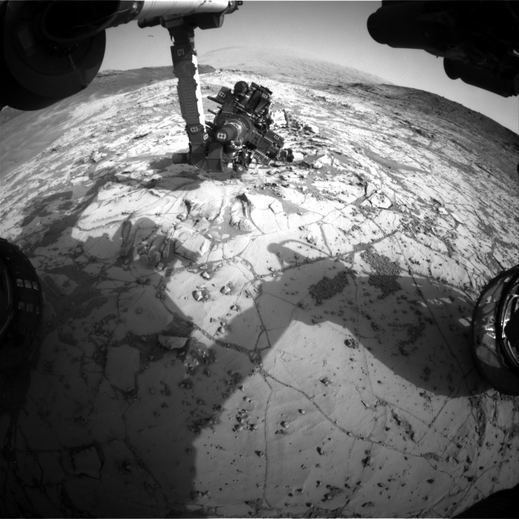 Nasa's Mars rover Curiosity acquired this image using its Front Hazard Avoidance Camera (Front Hazcam) on Sol 869, at drive 0, site number 45