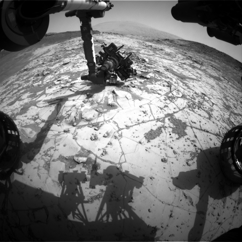 Nasa's Mars rover Curiosity acquired this image using its Front Hazard Avoidance Camera (Front Hazcam) on Sol 871, at drive 0, site number 45