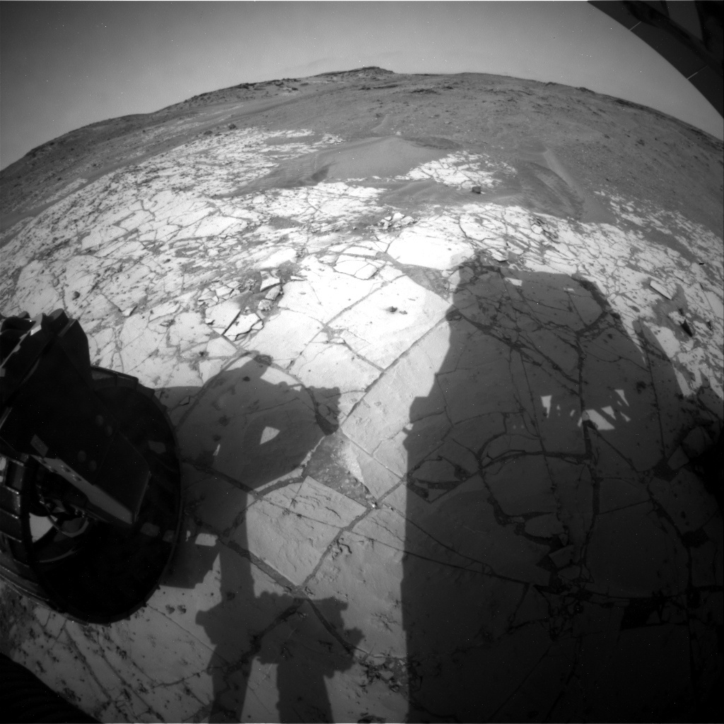 NASA's Mars rover Curiosity acquired this image using its Rear Hazard Avoidance Cameras (Rear Hazcams) on Sol 871