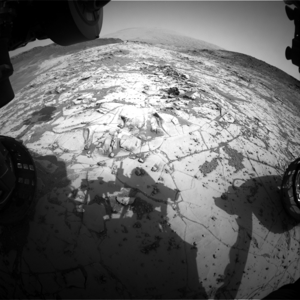 NASA's Mars rover Curiosity acquired this image using its Front Hazard Avoidance Cameras (Front Hazcams) on Sol 872