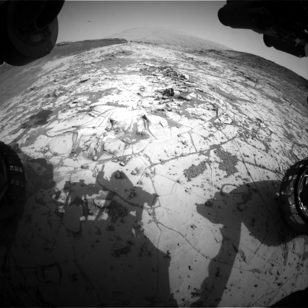 Nasa's Mars rover Curiosity acquired this image using its Front Hazard Avoidance Camera (Front Hazcam) on Sol 872, at drive 0, site number 45