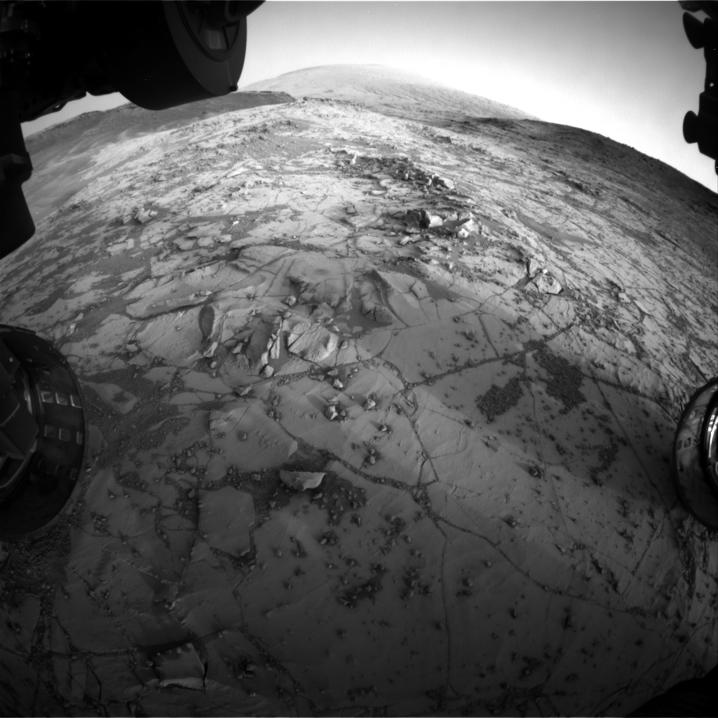 Nasa's Mars rover Curiosity acquired this image using its Front Hazard Avoidance Camera (Front Hazcam) on Sol 880, at drive 0, site number 45