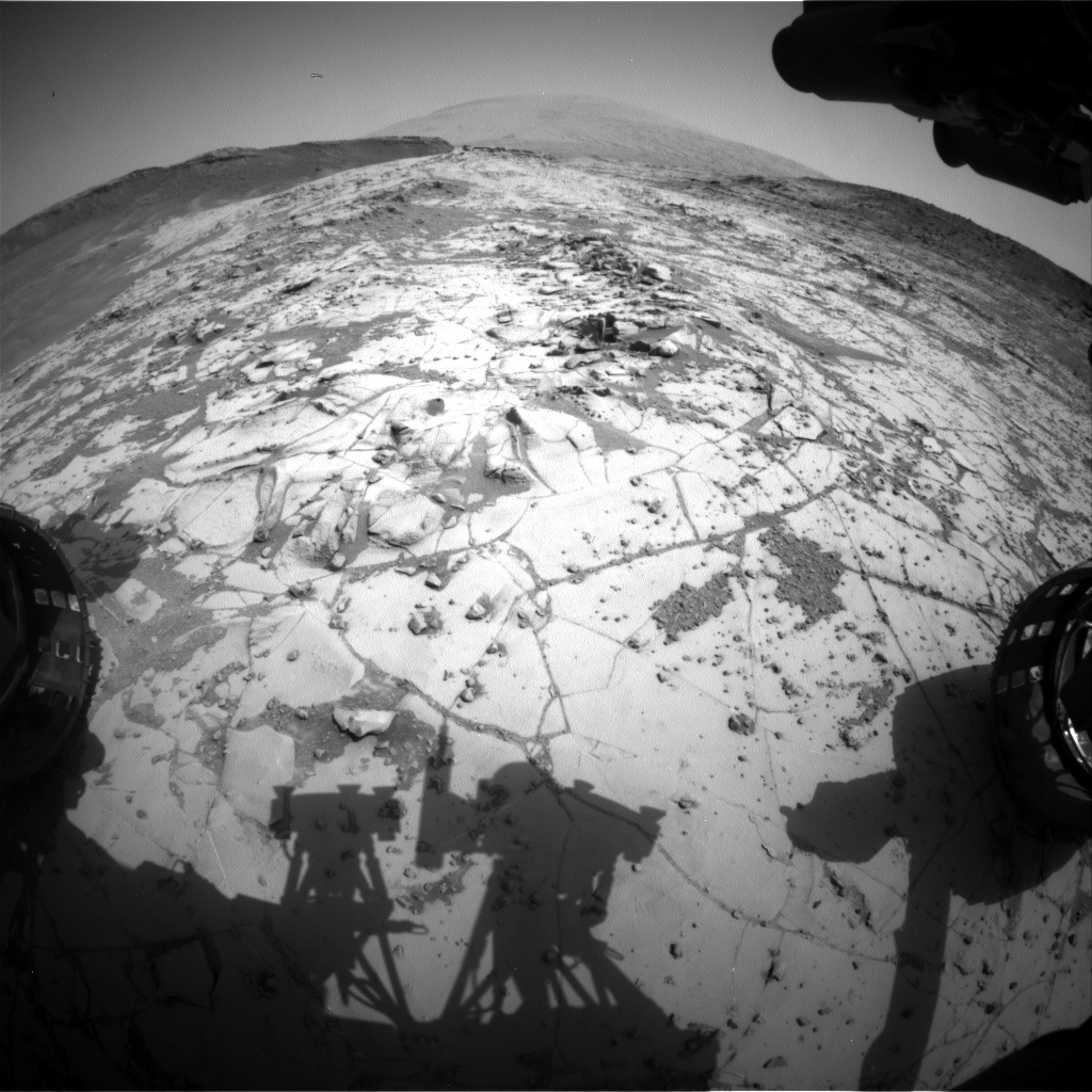 Nasa's Mars rover Curiosity acquired this image using its Front Hazard Avoidance Camera (Front Hazcam) on Sol 881, at drive 0, site number 45
