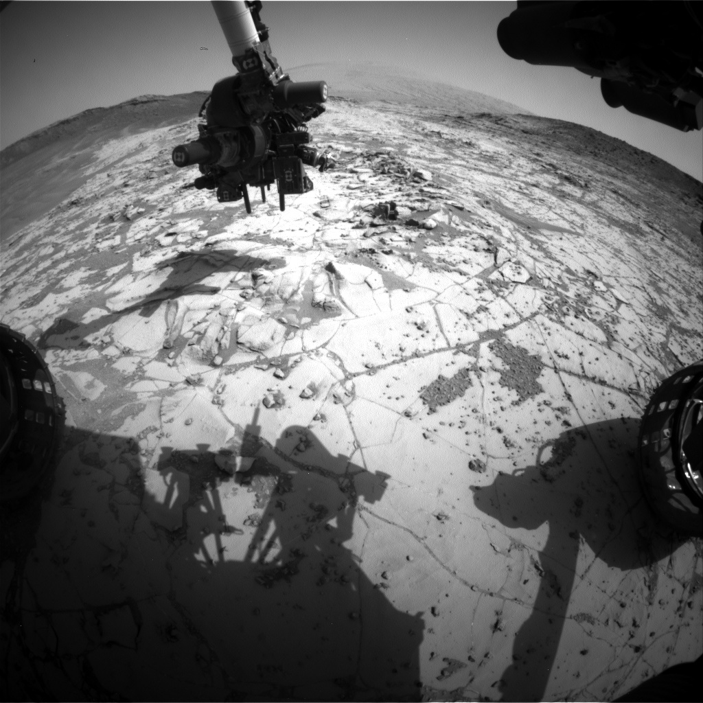 Nasa's Mars rover Curiosity acquired this image using its Front Hazard Avoidance Camera (Front Hazcam) on Sol 882, at drive 0, site number 45