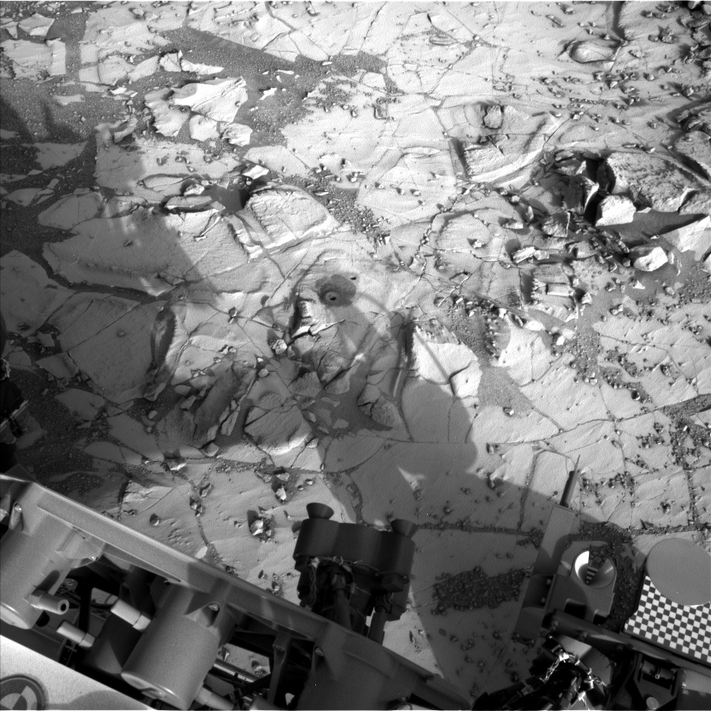 NASA's Mars rover Curiosity acquired this image using its Left Navigation Camera (Navcams) on Sol 882