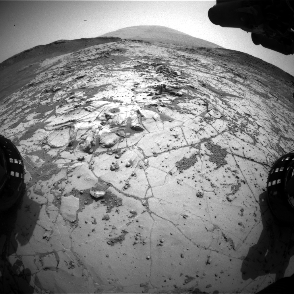 Nasa's Mars rover Curiosity acquired this image using its Front Hazard Avoidance Camera (Front Hazcam) on Sol 883, at drive 0, site number 45