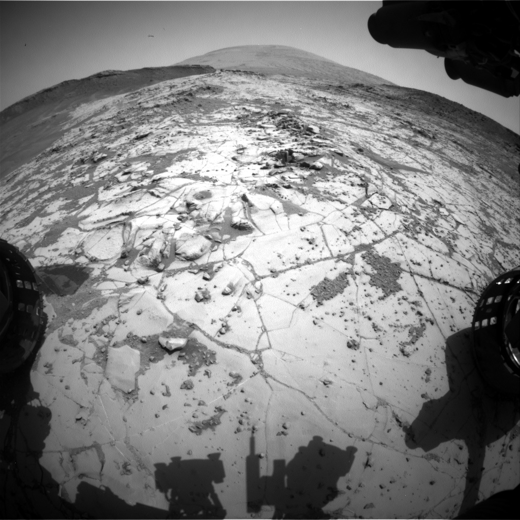 Nasa's Mars rover Curiosity acquired this image using its Front Hazard Avoidance Camera (Front Hazcam) on Sol 884, at drive 0, site number 45