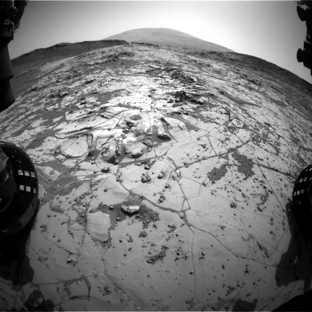 NASA's Mars rover Curiosity acquired this image using its Front Hazard Avoidance Cameras (Front Hazcams) on Sol 885