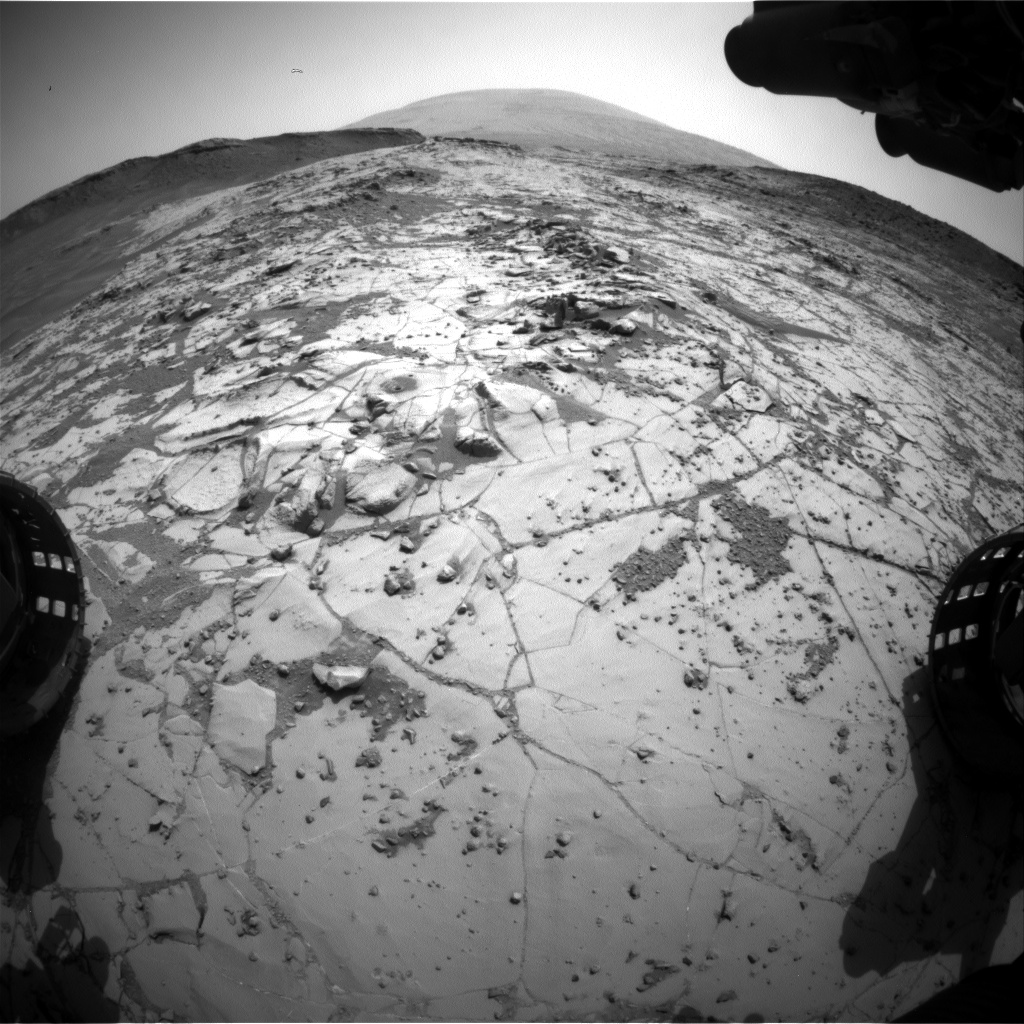 Nasa's Mars rover Curiosity acquired this image using its Front Hazard Avoidance Camera (Front Hazcam) on Sol 885, at drive 0, site number 45