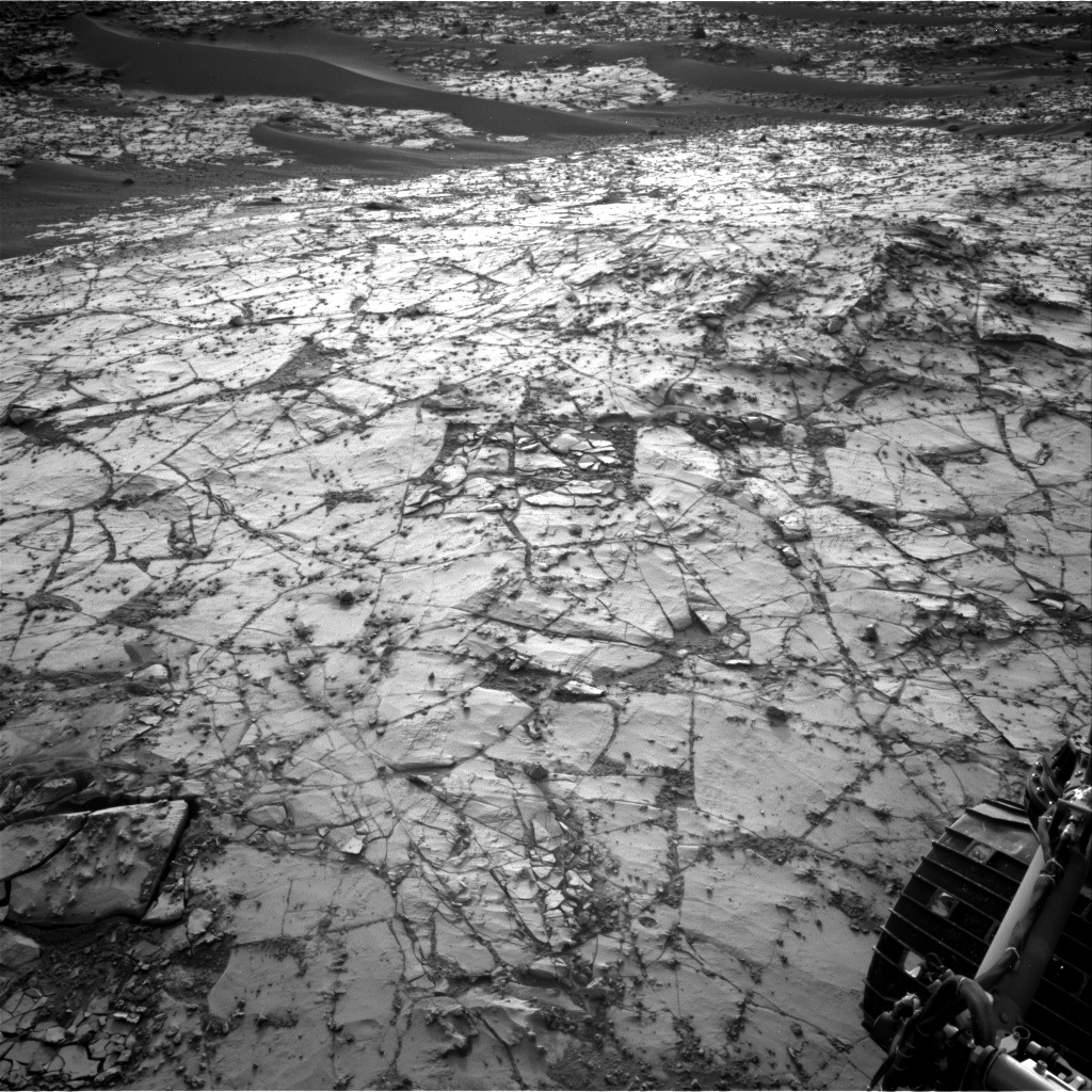 Nasa's Mars rover Curiosity acquired this image using its Right Navigation Camera on Sol 886, at drive 0, site number 45