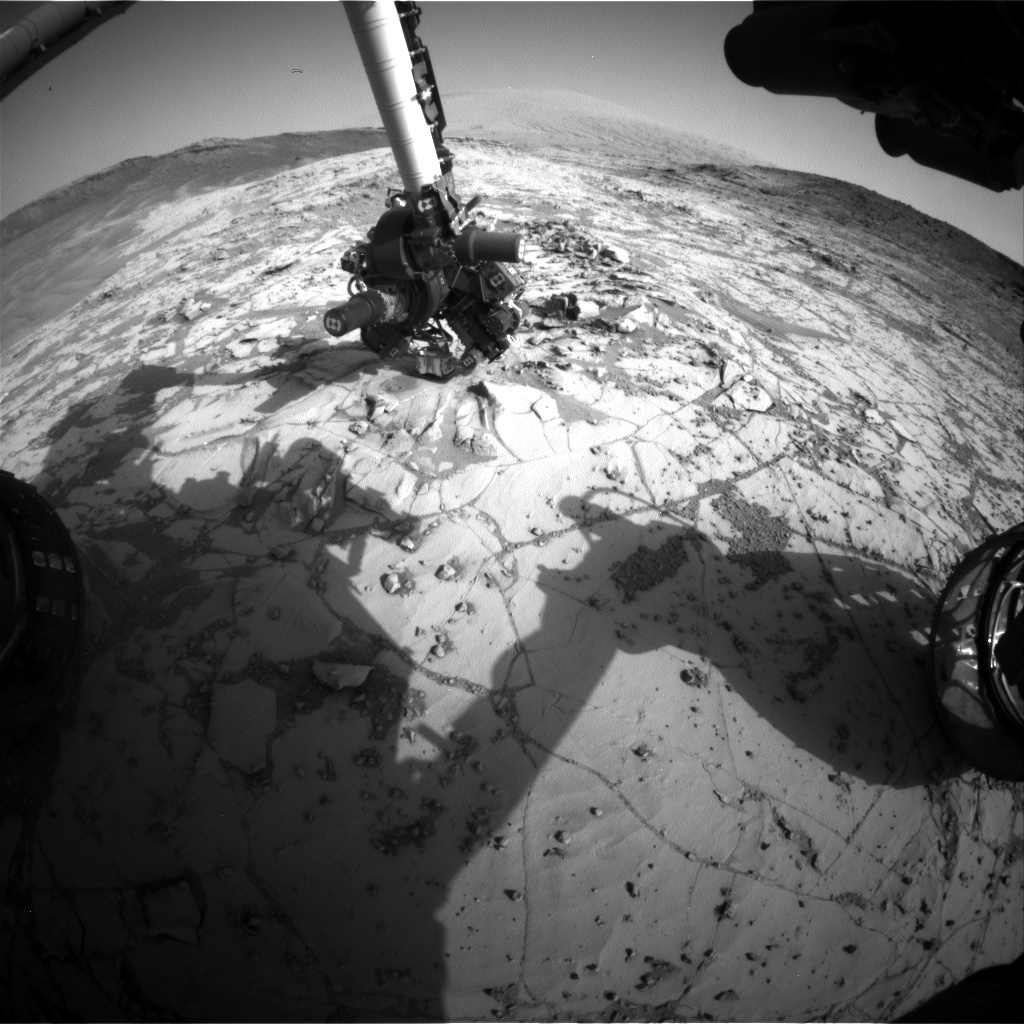 Nasa's Mars rover Curiosity acquired this image using its Front Hazard Avoidance Camera (Front Hazcam) on Sol 887, at drive 0, site number 45